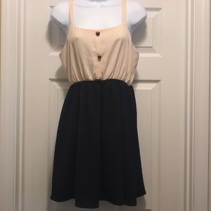 Navy and cream innocent dress.